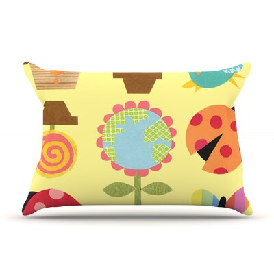 Spring Repeat by Jane Smith Featherweight Pillow Sham Size: Queen, Fabric: Woven Polyester