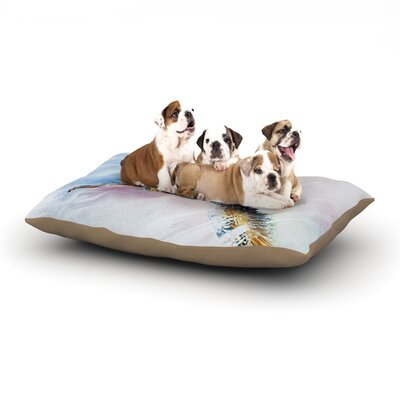 Josh Serafin Overhead Pastel Bird Dog Pillow with Fleece Cozy Top Size: Large (50 W x 40 D x 8 H)