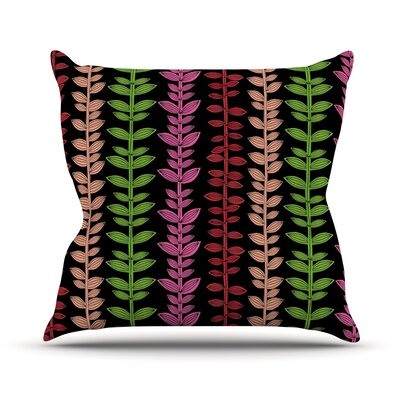 Garden Vine and Leaf by Jane Smith Rainbow Vines Throw Pillow Size: 18 H x 18 W x 3 D