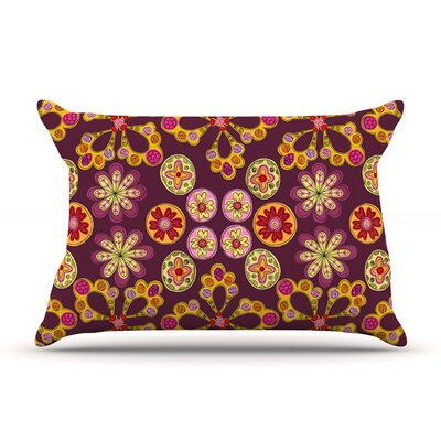 Indian Jewelry Floral by Jane Smith Featherweight Pillow Sham Size: King, Fabric: Woven Polyester
