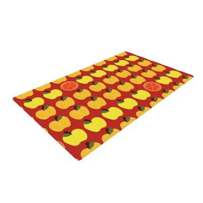 Jane Smith Seasons Autumn Orange/Red Area Rug Rug Size: 2 x 3