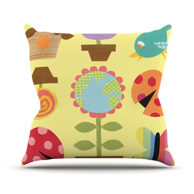 Spring Repeat by Jane Smith Throw Pillow Size: 16 H x 16 W x 3 D