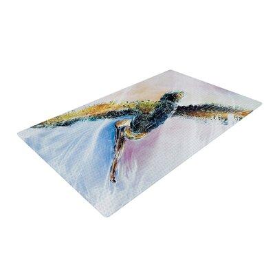 Josh Serafin Overhead Bird Pastel Area Rug Rug Size: 4 x 6