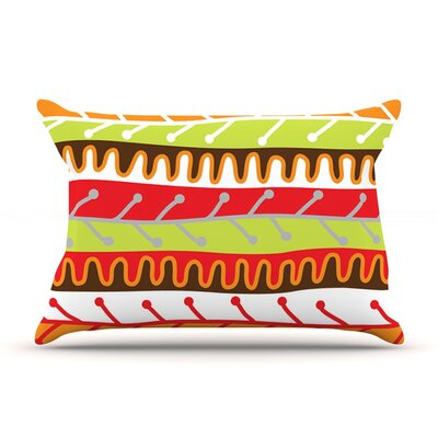 Salsa by Jacqueline Milton Featherweight Pillow Sham Size: Queen, Color: Orange, Fabric: Woven Polyester