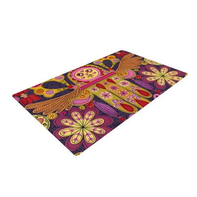 Jane Smith Indian Jewelry Purple/Yellow Area Rug