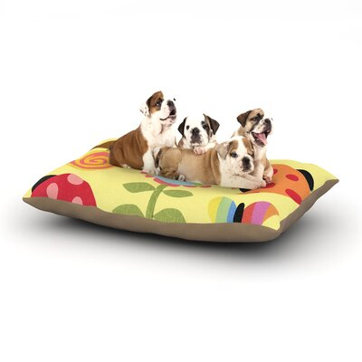 Jane Smith Spring Repeat Dog Pillow with Fleece Cozy Top Size: Large (50 W x 40 D x 8 H)