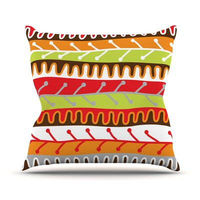 Salsa by Jacqueline Milton Throw Pillow Size: 16 H x 16 W x 3 D, Color: Orange