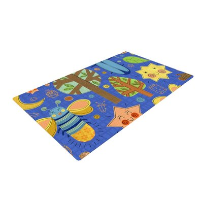 Jane Smith Lightning Bug Blue/Teal Area Rug Rug Size: 4 x 6