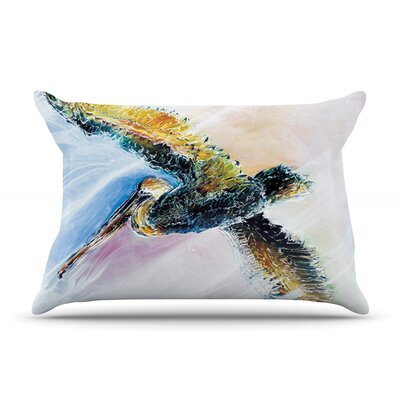 Josh Serafin Overhead Pastel Bird Pillow Case