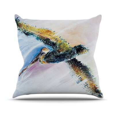 Overhead by Josh Serafin Bird Throw Pillow Size: 16 H x 16 W x 3 D