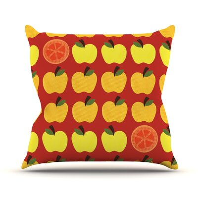 Seasons Autumn by Jane Smith Throw Pillow Size: 26 H x 26 W x 5 D