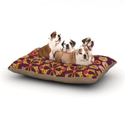 Jane Smith Indian Jewelry Floral Dog Pillow with Fleece Cozy Top Size: Small (40 W x 30 D x 8 H)