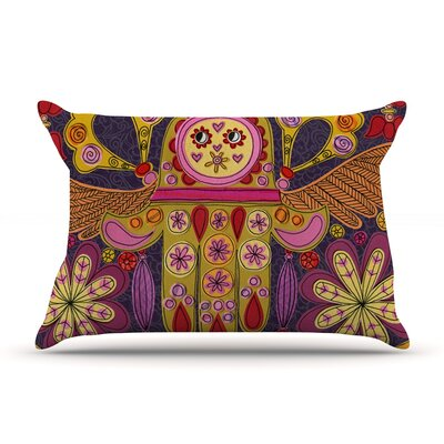 Indian Jewelry by Jane Smith Featherweight Pillow Sham Size: King, Fabric: Woven Polyester