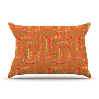 Vintage Arrows by Jane Smith Featherweight Pillow Sham Size: Queen, Fabric: Woven Polyester