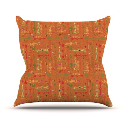 Vintage Arrows by Jane Smith Throw Pillow Size: 18 H x 18 W x 3 D