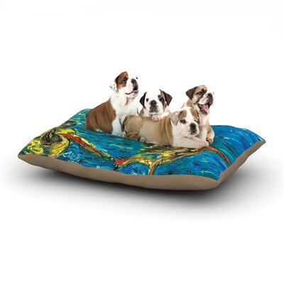 Josh Serafin Seabirds Dog Pillow with Fleece Cozy Top Size: Small (40 W x 30 D x 8 H)