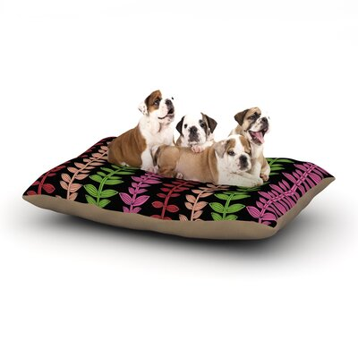 Jane Smith Garden Vine and Leaf Vines Dog Pillow with Fleece Cozy Top Size: Large (50 W x 40 D x 8 H)