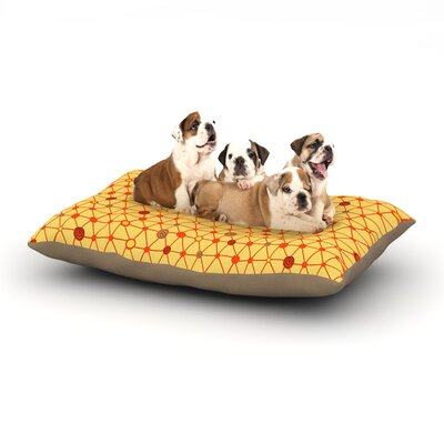 Jane Smith Vintage Playground Dog Pillow with Fleece Cozy Top Size: Small (40 W x 30 D x 8 H)