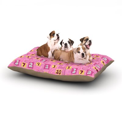 Jane Smith Vintage Playground II Dog Pillow with Fleece Cozy Top Size: Large (50 W x 40 D x 8 H)