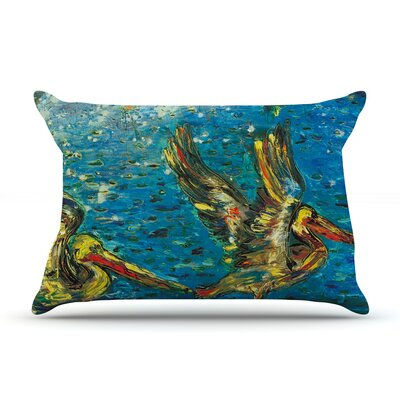 Seabirds by Josh Serafin Featherweight Pillow Sham Size: Queen, Fabric: Woven Polyester