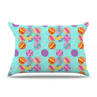 Vintage Playground III by Jane Smith Featherweight Pillow Sham Size: Queen, Fabric: Woven Polyester