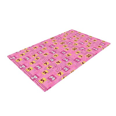 Jane Smith Vintage Playground II Pink/Yellow Area Rug Rug Size: 4 x 6