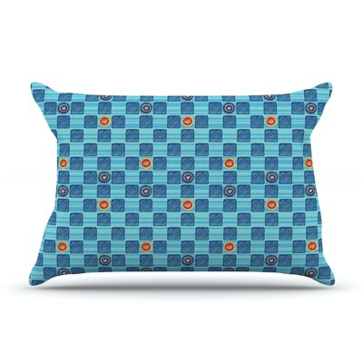 Vintage Checkerboard by Jane Smith Featherweight Pillow Sham Size: King, Fabric: Woven Polyester