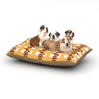 Jane Smith Mushroom Repeat Dog Pillow with Fleece Cozy Top Size: Small (40 W x 30 D x 8 H)