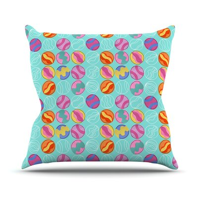 Vintage Playground III by Jane Smith Throw Pillow Size: 18 H x 18 W x 3 D