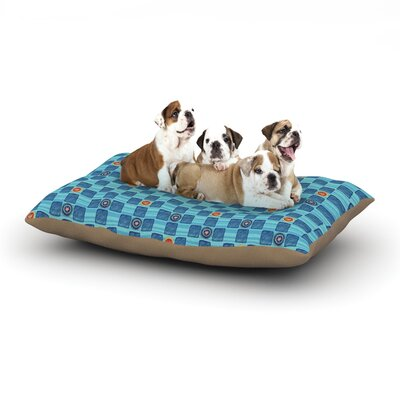 Jane Smith Vintage Checkerboard Dog Pillow with Fleece Cozy Top Size: Small (40 W x 30 D x 8 H)