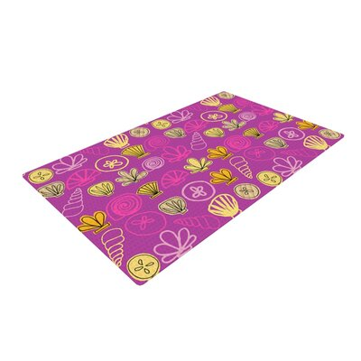 Jane Smith Under the Sea Mermaid Pink/Gold Area Rug