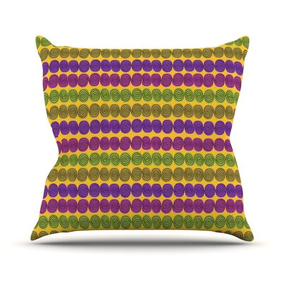 Under the Sea Shells by Jane Smith Throw Pillow Size: 18 H x 18 W x 3 D