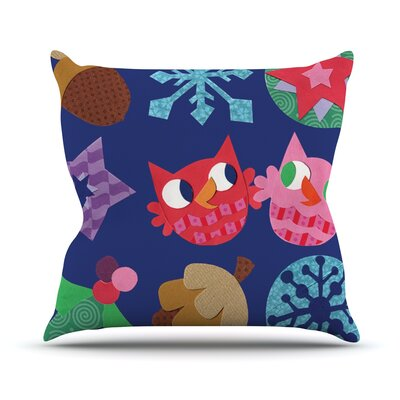 Winter Repeat by Jane Smith Throw Pillow Size: 16 H x 16 W x 3 D