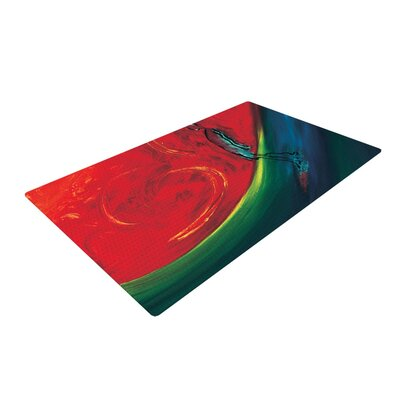 Glide Red Area Rug Rug Size: 2 x 3