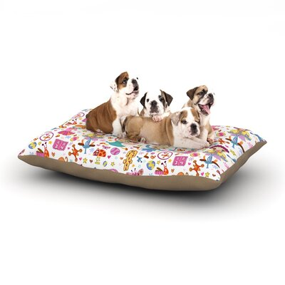 Jane Smith Vintage Playground IIII Dog Pillow with Fleece Cozy Top Size: Small (40 W x 30 D x 8 H)