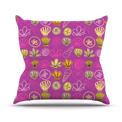 Under the Sea Mermaid by Jane Smith Throw Pillow Size: 26 H x 26 W x 5 D