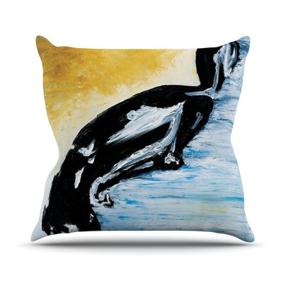 Hangin 10 by Josh Serafin Throw Pillow Size: 16 H x 16 W x 3 D