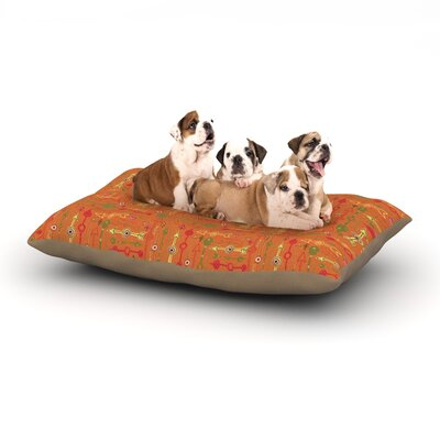 Jane Smith Vintage Arrows Dog Pillow with Fleece Cozy Top Size: Small (40 W x 30 D x 8 H)
