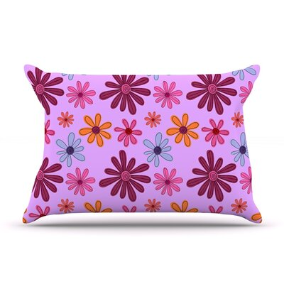 Woodland Floral by Jane Smith Featherweight Pillow Sham Size: Queen, Fabric: Woven Polyester