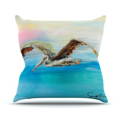 Coast by Josh Serafin Ocean Bird Throw Pillow Size: 18 H x 18 W x 3 D