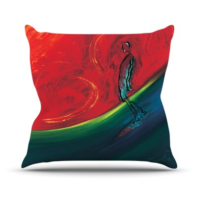 Glide by Josh Serafin Throw Pillow Size: 18 H x 18 W x 3 D