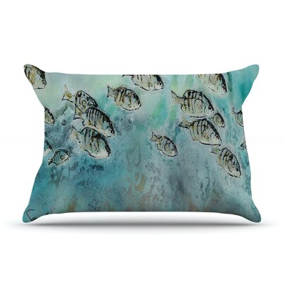 Perch Surfin by Josh Serafin Featherweight Pillow Sham Size: King, Fabric: Woven Polyester