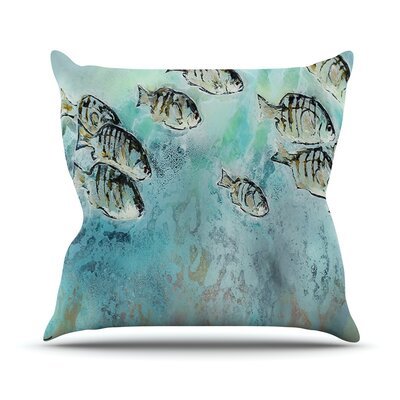 Perch Surfin by Josh Serafin Throw Pillow Size: 20 H x 20 W x 4 D