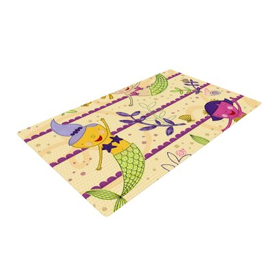 Jane Smith Under the Sea Tan/Purple Area Rug Rug Size: 2 x 3