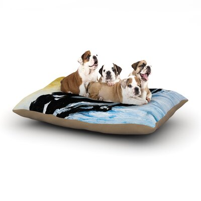 Josh Serafin Hangin 10 Dog Pillow with Fleece Cozy Top Size: Small (40 W x 30 D x 8 H)
