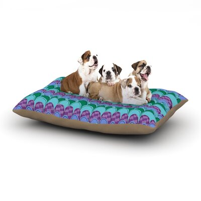 Jane Smith Woodland Waves Dog Pillow with Fleece Cozy Top Size: Large (50 W x 40 D x 8 H)