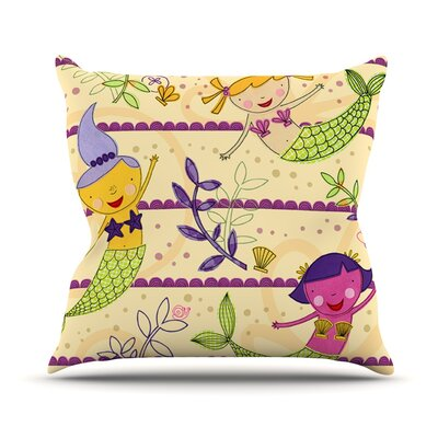 Under the Sea by Jane Smith Throw Pillow Size: 16 H x 16 W x 3 D