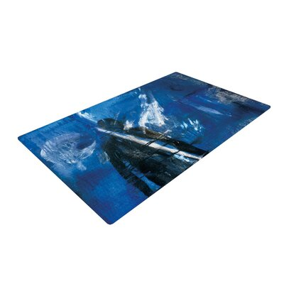 Josh Serafin Release Blue/Black Area Rug Rug Size: 2 x 3