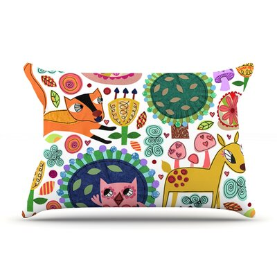 Woodland Critters by Jane Smith Featherweight Pillow Sham Size: King, Fabric: Woven Polyester