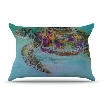 Josh Serafin Mommy Turtle Pillow Case